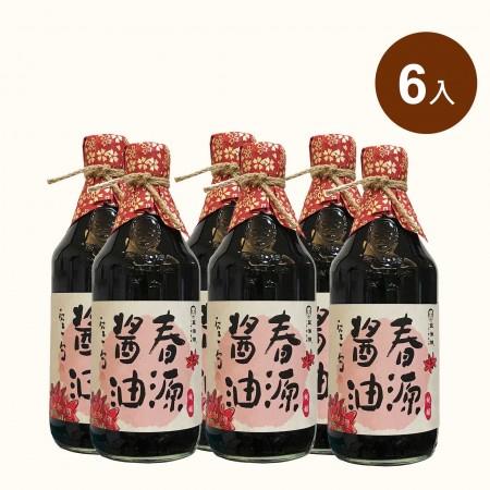 【豆油伯】回購率第一 春源釀造黑豆醬油500ml(6入)
