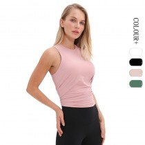 【時尚瑜伽 / 運動】女款時尚透氣後背綁帶式背心