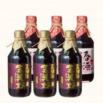 【豆油伯】金美好醬油3入+春源醬油3入(共6入)
