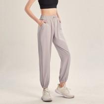 【時尚瑜伽 / 運動】女款 純色休閒褲運動訓練長褲 瑜珈日常 人人愛物
